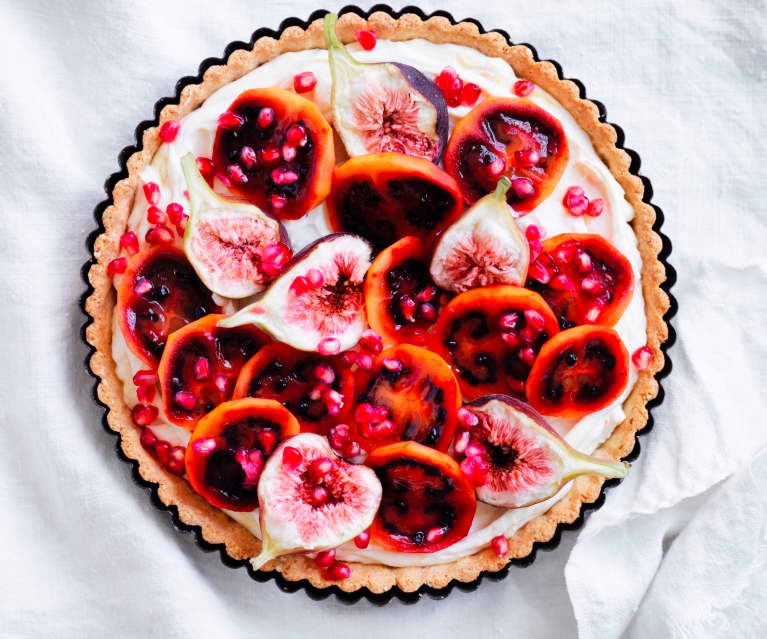 Ricotta fruit tart