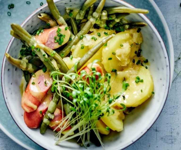 Kartoffel-Bohnen-Salat mit Wienerli