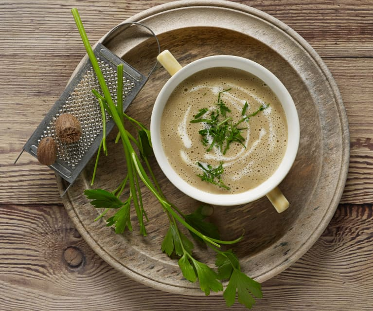 Potato and porcini mushroom soup