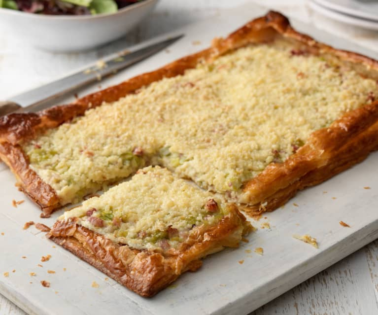 Bacon, Leek and Emmental Tart