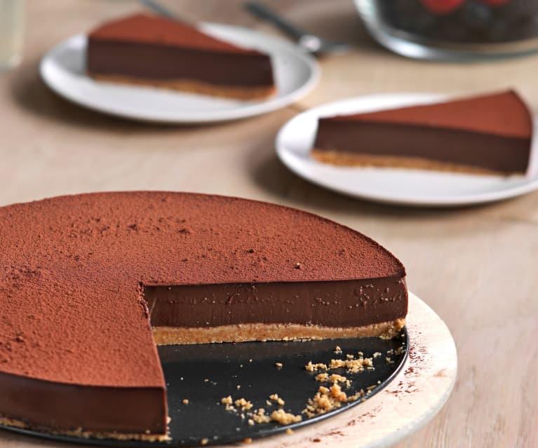 Tarta de cuajada de chocolate