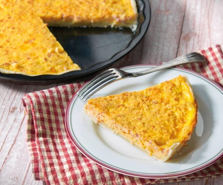 Quiche z resztkami sera i wędlin