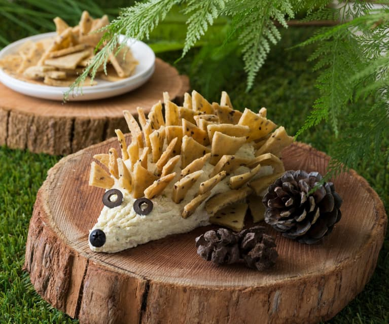 Cheese and bacon hedgehog