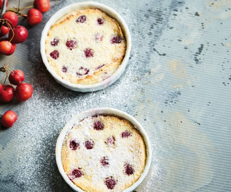 Raspberry mini clafoutis
