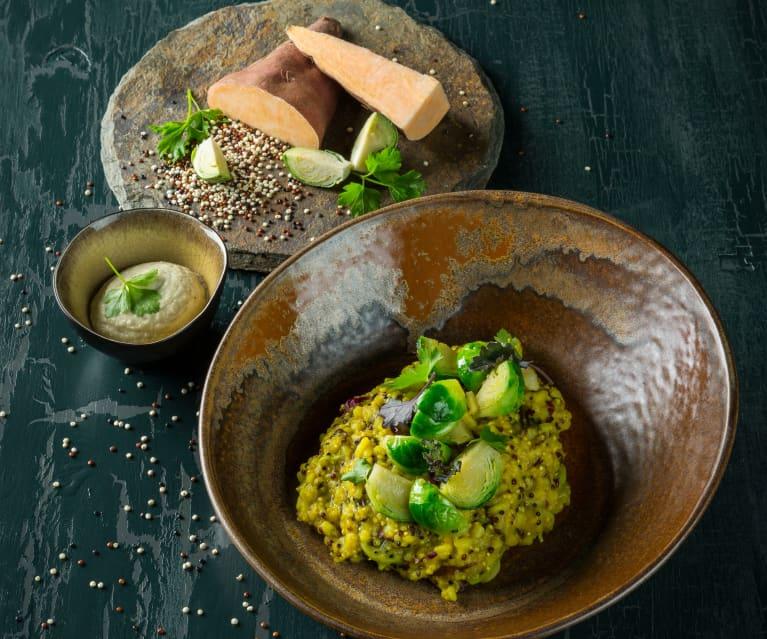 Quinoa-Süßkartoffel-Risotto mit Kohlsprossen