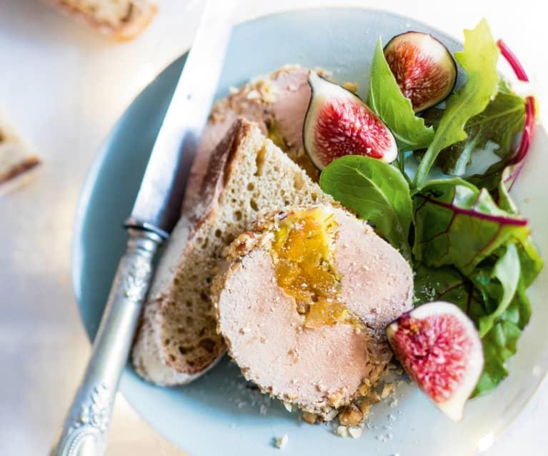 Menu gourmand - Foie gras aux fruits secs