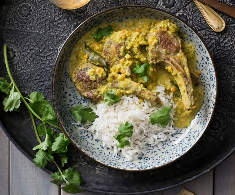 Curry lamb cutlets