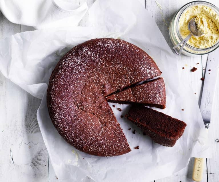 Simple chocolate hazelnut cake