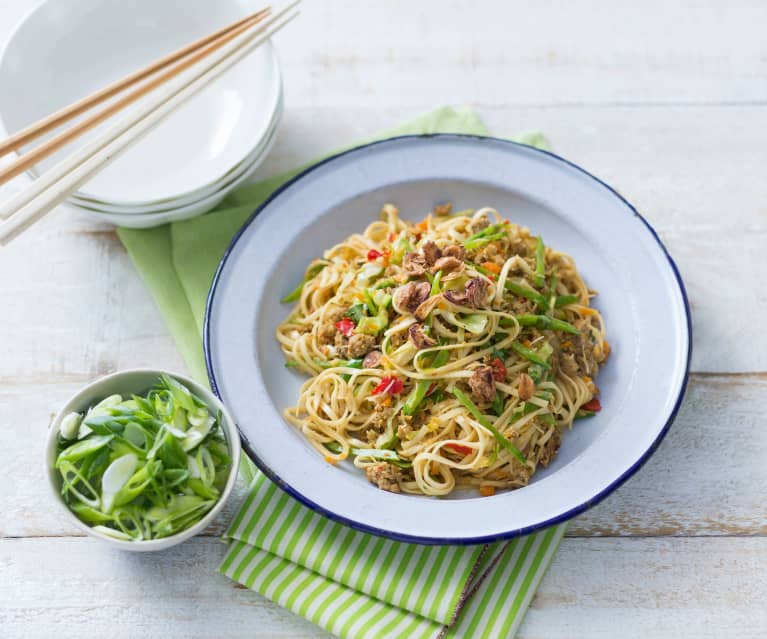 Asian-style pork noodles