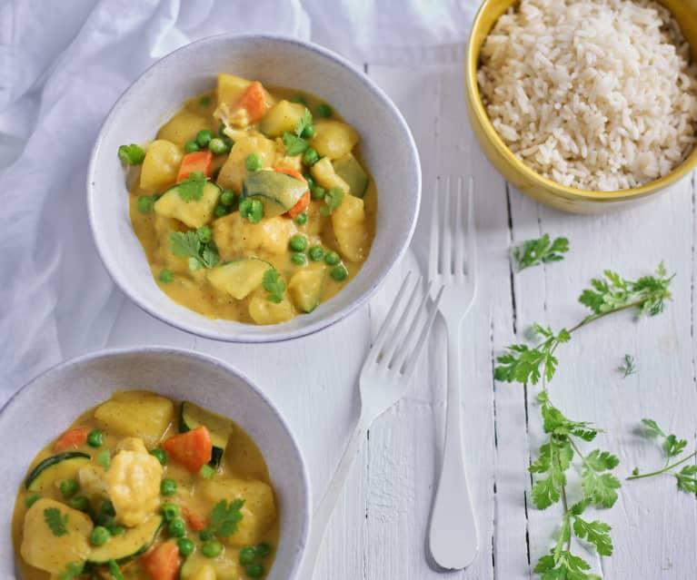 Curry indio de verduras