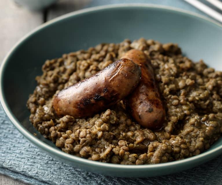 Puy Lentil and Sausage Casserole