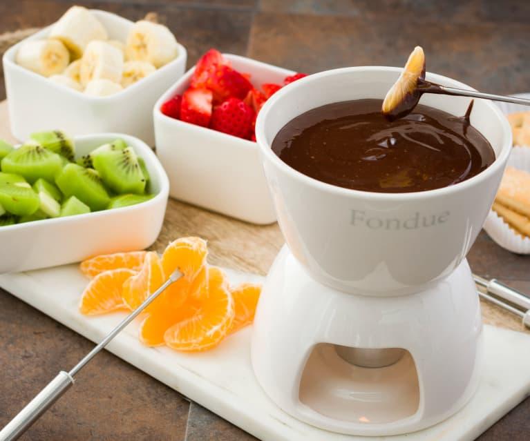 Fondue de chocolate a la naranja