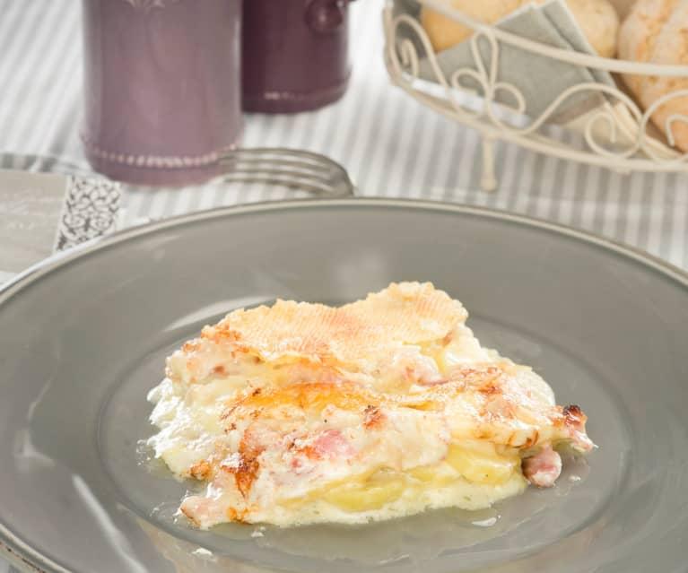 Patatas gratinadas al estilo de Saboya (Tartiflette savoyarde)