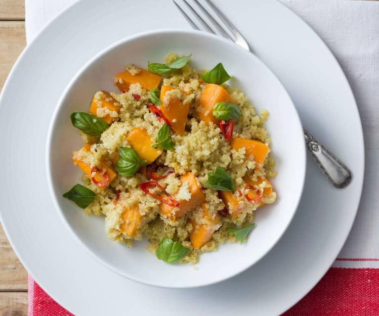 Risotto de quinoa con calabaza asada