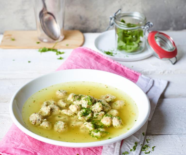 Schwäbische Käseknöpfle-Suppe