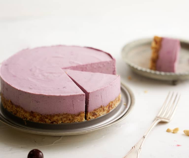 Cheesecake vegano de cereza