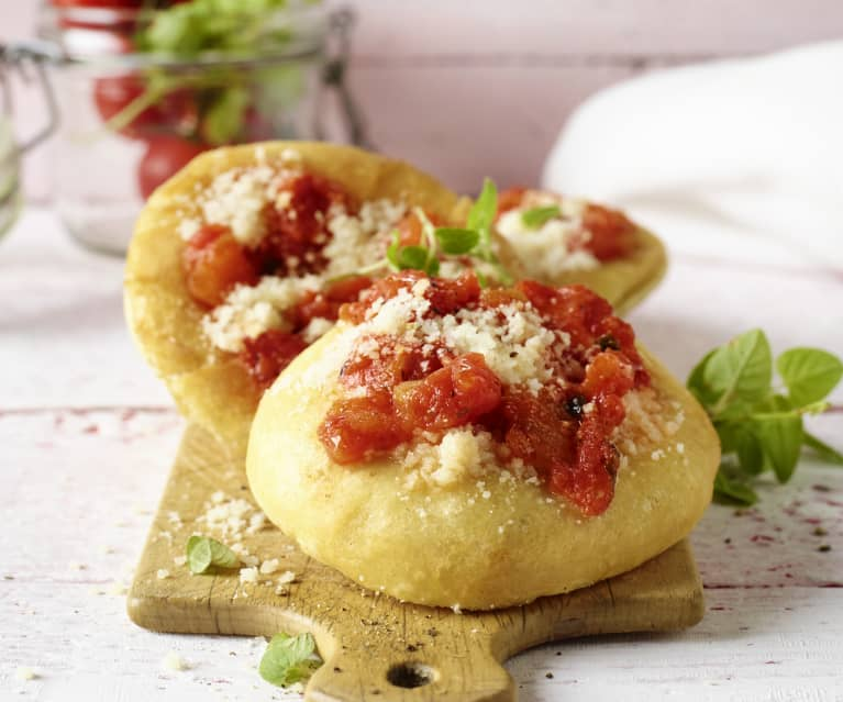 Frittierte Mini-Pizzen