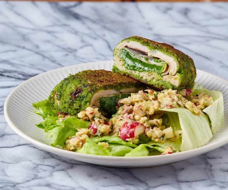 Cordon bleu alle erbe aromatiche con insalata croccante