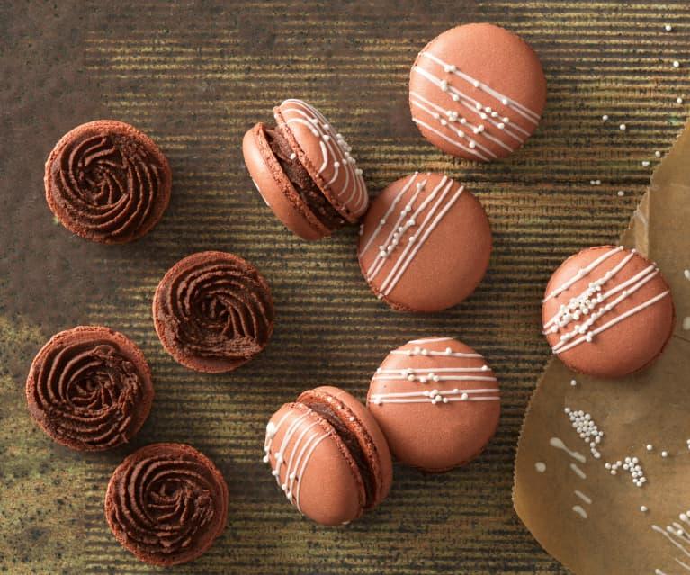 Schokoladen-Macarons mit Orangen-Schokoladen-Ganache