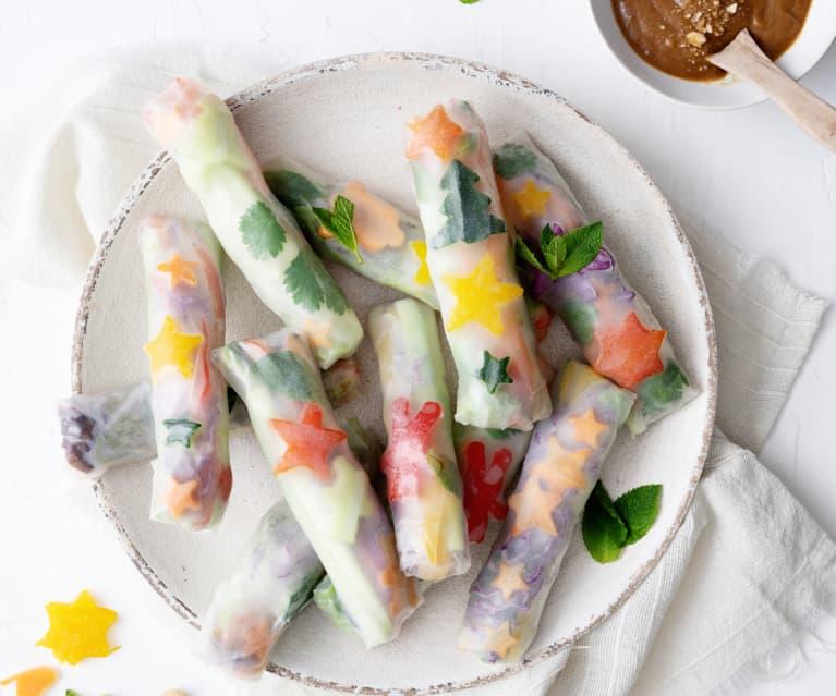 Rolos de verão vegetarianos