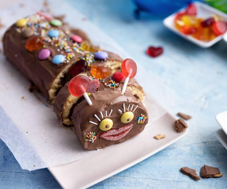 Rolo de chocolate colorido