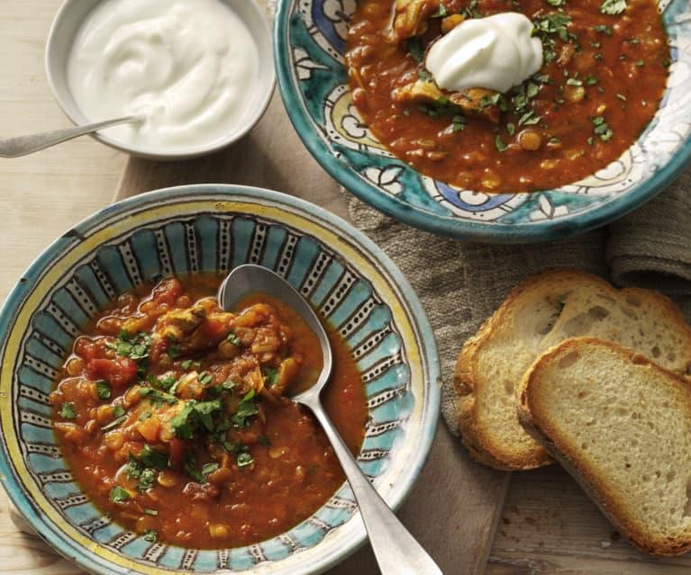 Harira (soupe marocaine au poulet)