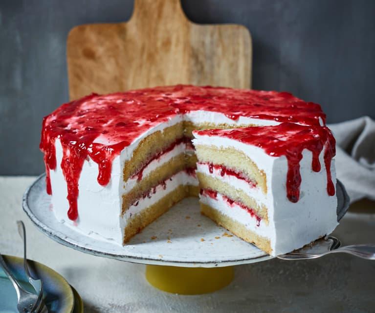 Vegane Vanille-Preiselbeer-Torte