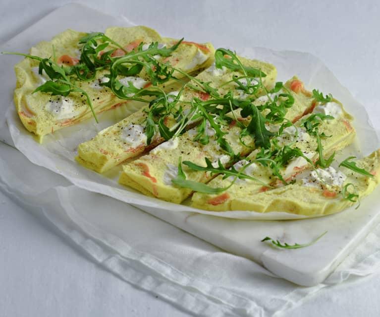 Karotten-Fenchel-Frittata mit Ricotta