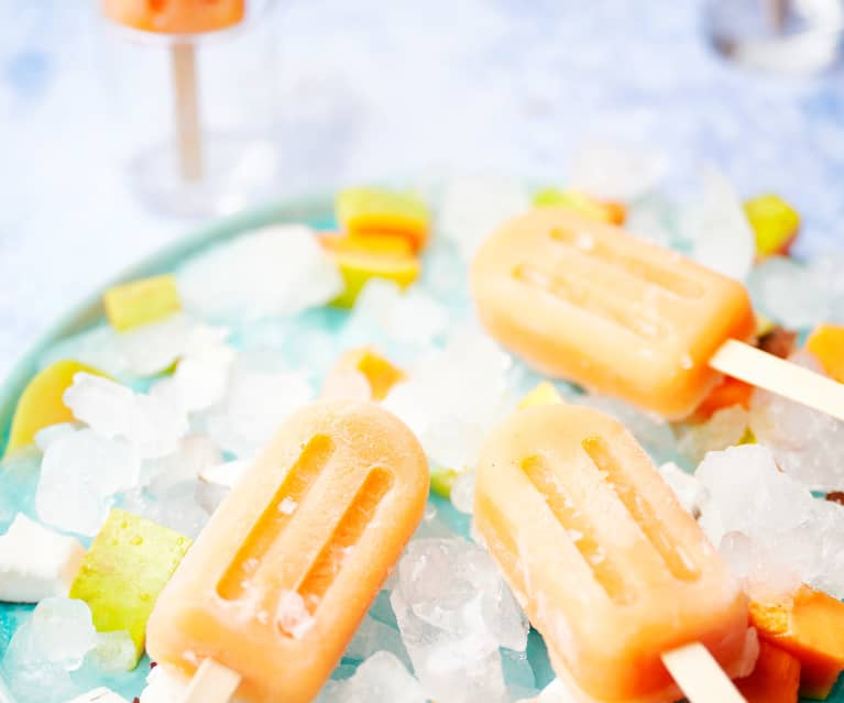 Coconut and Papaya Popsicles