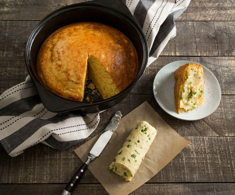 Cornbread with jalapeño honey butter