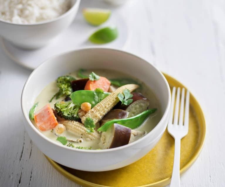 Caril thai vegetariano