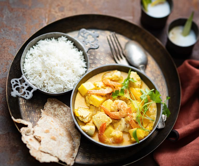 Curry poulet-crevettes-ananas