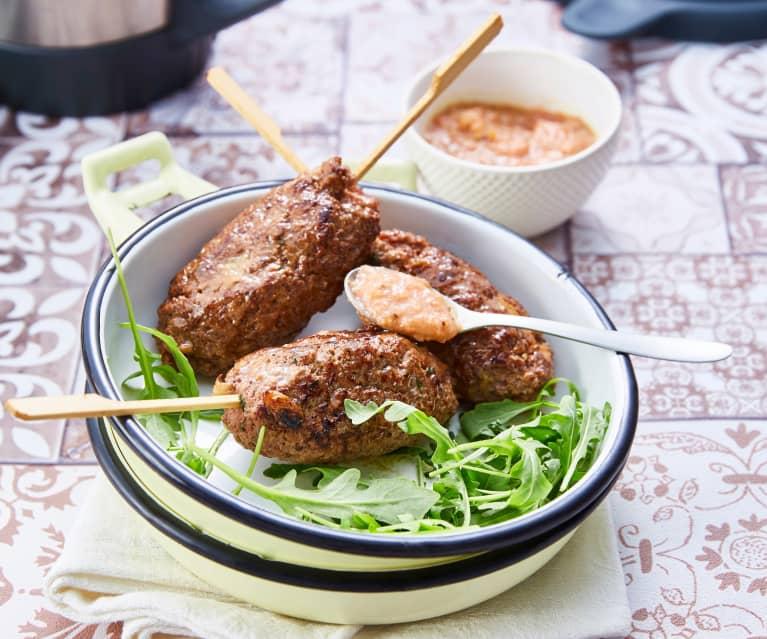 Brochettes kebab sauce aux pêches