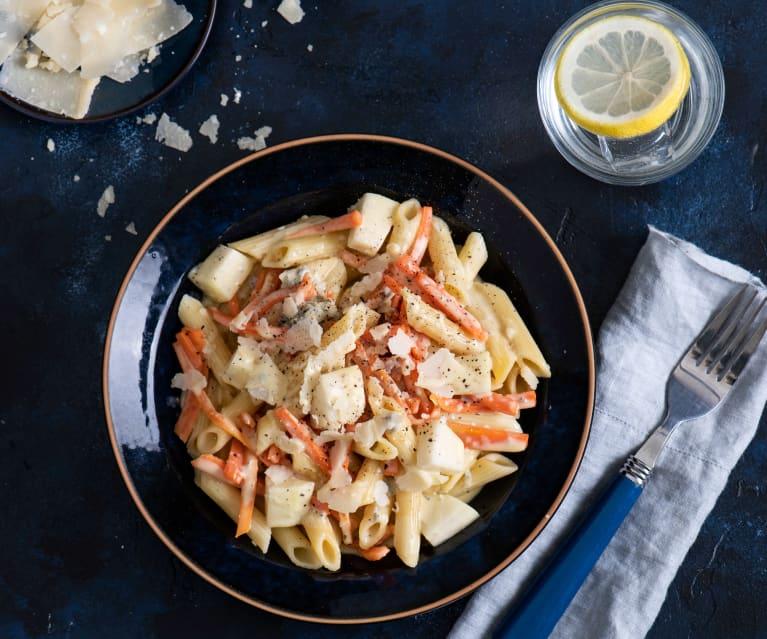 Penne cremose Gorgonzola e carote