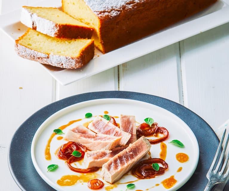 Menù: Tranci di tonno con composta di cipolla e plumcake allo yogurt (Bimby Friend)