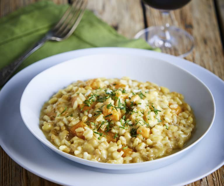 Buckwheat and Butternut Squash Risotto