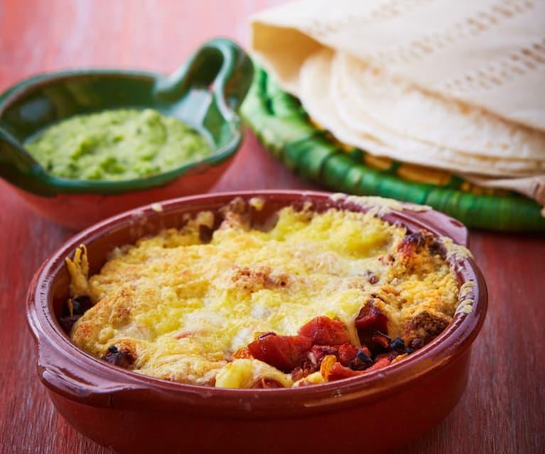 Meksykańskie chili z serem i chorizo