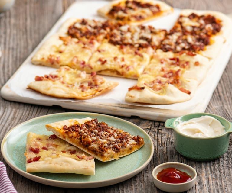 Pizza w dwóch smakach