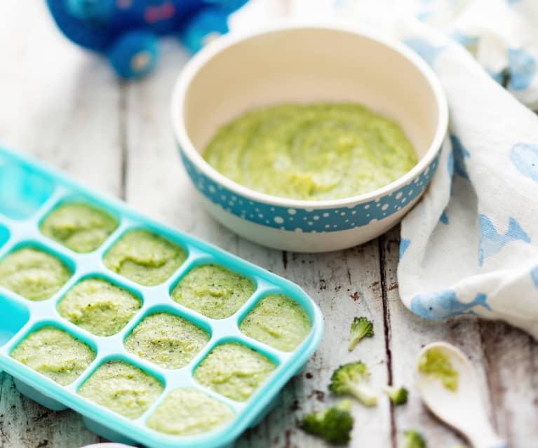 Curried Pea, Potato and Broccoli Purée