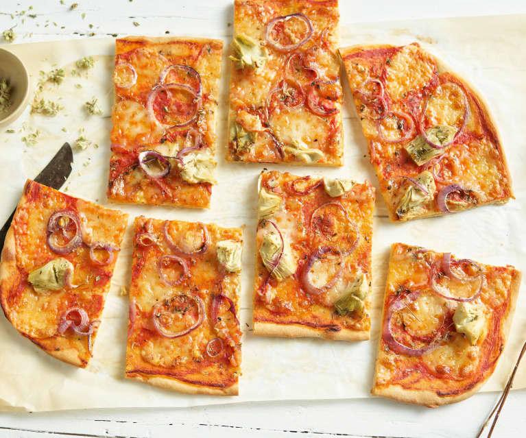 Pizza rápida vegetariana