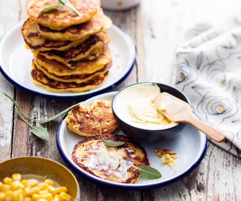 Baby-friendly Sweetcorn and Ricotta Fritters
