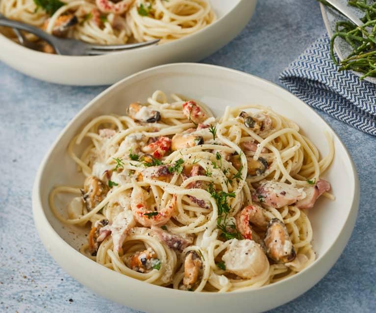 Spaghetti aux fruits de mer express