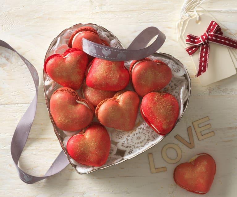 Herz-Macaron-Schalen