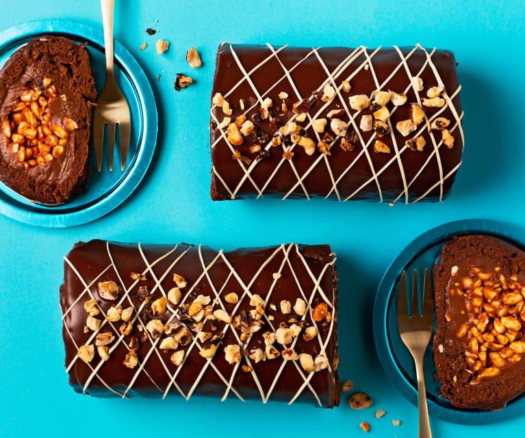 Brazos de chocolate y praliné