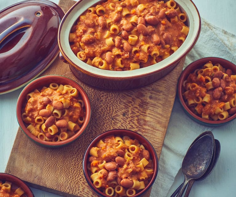 Pasta with Pork and Beans