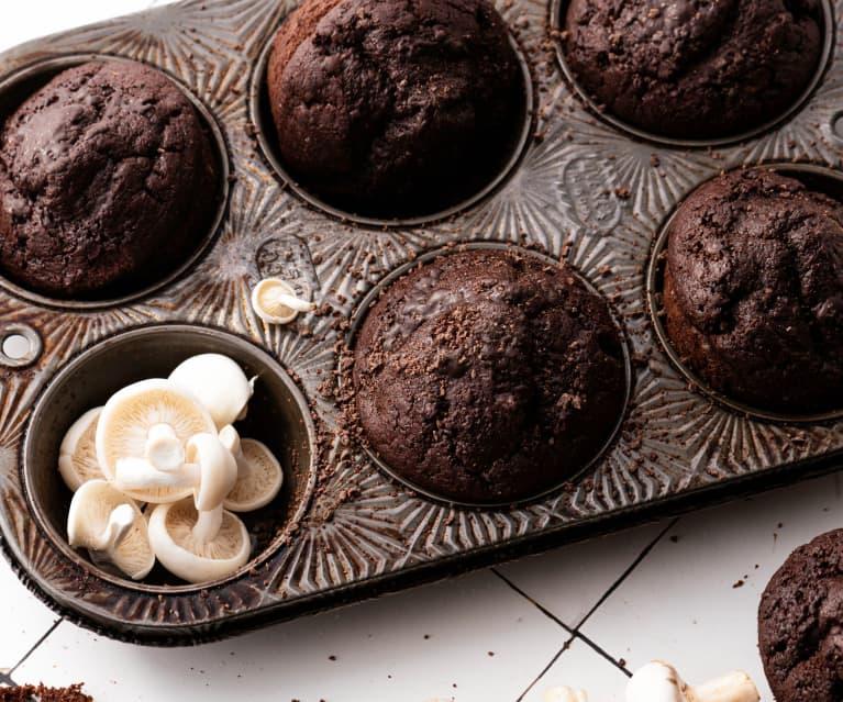 Muffins aux champignons et au chocolat