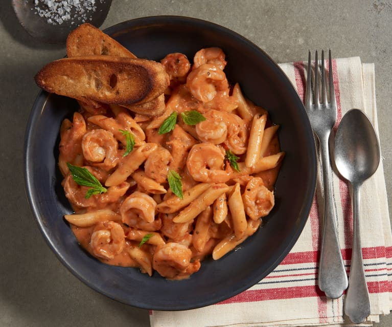 Shrimp and Vodka Penne Pasta