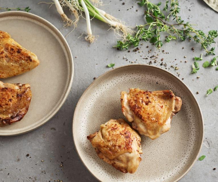 Sous-vide cuisses de poulet