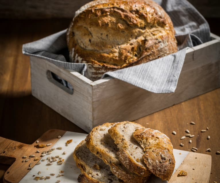 Sonnenblumen-Leinsamen-Brote