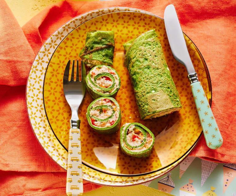 Bunte Gemüse-Pfannkuchen
